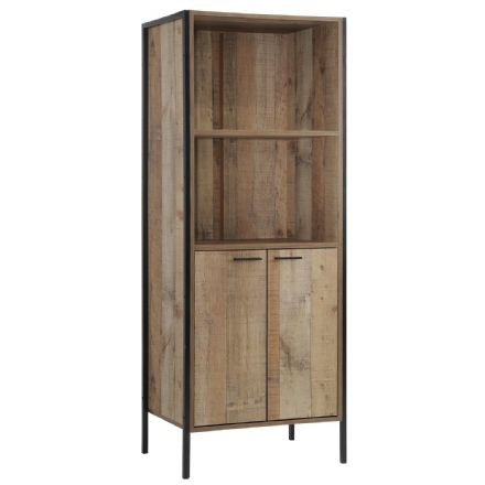 Storage Bookcase with 2 doors